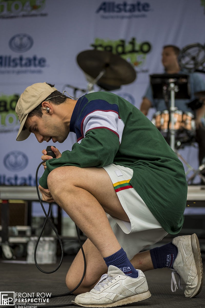 Bleachers performing at the Radio 104.5 Endless Summer Show